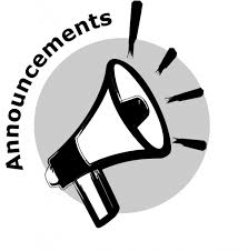 AMS DAILY ANNOUNCEMENTS