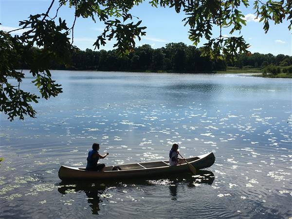 Canoeing at Camp Elk River